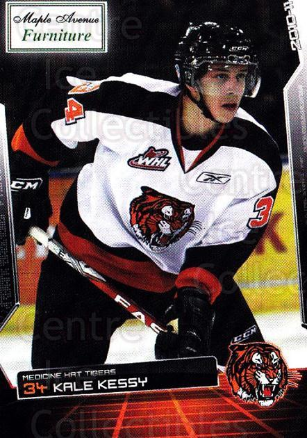 2010-11 Medicine Hat Tigers #11 Kale Kessy<br/>1 In Stock - $3.00 each - <a href=https://centericecollectibles.foxycart.com/cart?name=2010-11%20Medicine%20Hat%20Tigers%20%2311%20Kale%20Kessy...&quantity_max=1&price=$3.00&code=478449 class=foxycart> Buy it now! </a>