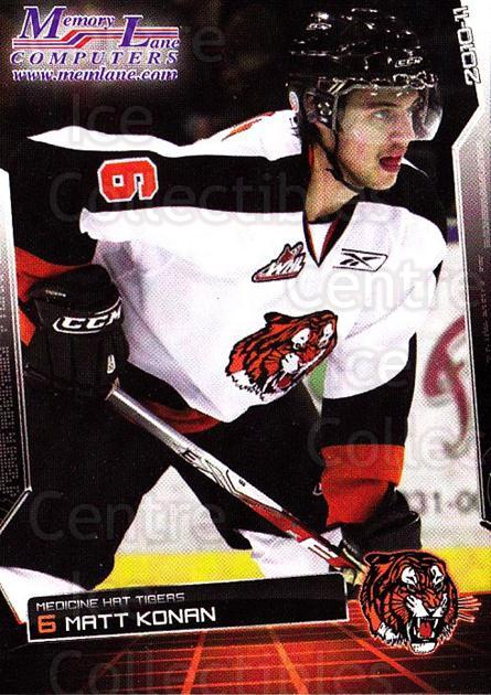2010-11 Medicine Hat Tigers #12 Matt Konan<br/>3 In Stock - $3.00 each - <a href=https://centericecollectibles.foxycart.com/cart?name=2010-11%20Medicine%20Hat%20Tigers%20%2312%20Matt%20Konan...&quantity_max=3&price=$3.00&code=478450 class=foxycart> Buy it now! </a>
