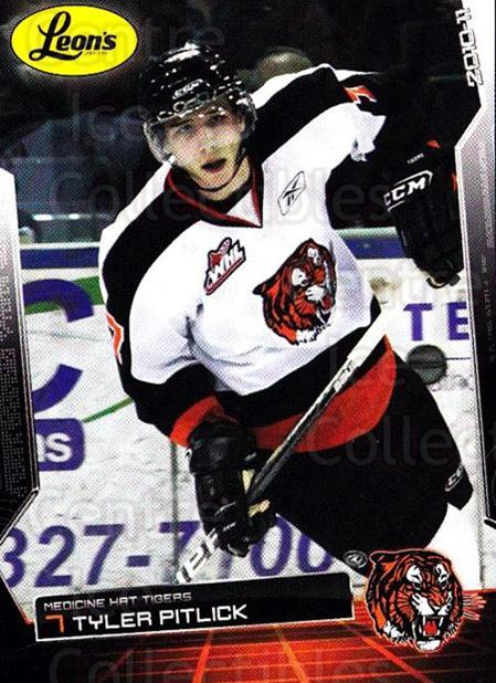 2010-11 Medicine Hat Tigers #18 Tyler Pitlick<br/>1 In Stock - $3.00 each - <a href=https://centericecollectibles.foxycart.com/cart?name=2010-11%20Medicine%20Hat%20Tigers%20%2318%20Tyler%20Pitlick...&quantity_max=1&price=$3.00&code=478456 class=foxycart> Buy it now! </a>