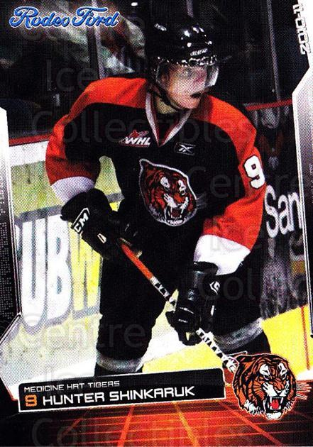 2010-11 Medicine Hat Tigers #20 Hunter Shinkaruk<br/>1 In Stock - $3.00 each - <a href=https://centericecollectibles.foxycart.com/cart?name=2010-11%20Medicine%20Hat%20Tigers%20%2320%20Hunter%20Shinkaru...&quantity_max=1&price=$3.00&code=478458 class=foxycart> Buy it now! </a>