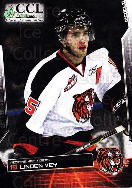 2010-11 Medicine Hat Tigers #24 Linden Vey<br/>4 In Stock - $3.00 each - <a href=https://centericecollectibles.foxycart.com/cart?name=2010-11%20Medicine%20Hat%20Tigers%20%2324%20Linden%20Vey...&quantity_max=4&price=$3.00&code=478462 class=foxycart> Buy it now! </a>