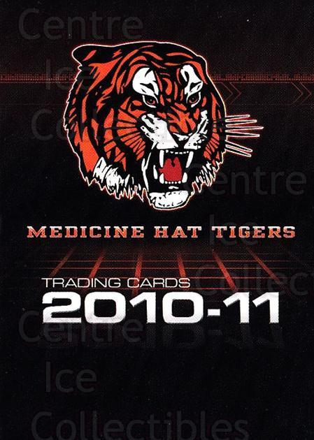 2010-11 Medicine Hat Tigers #25 Header Card, Checklist<br/>3 In Stock - $3.00 each - <a href=https://centericecollectibles.foxycart.com/cart?name=2010-11%20Medicine%20Hat%20Tigers%20%2325%20Header%20Card,%20Ch...&quantity_max=3&price=$3.00&code=478463 class=foxycart> Buy it now! </a>