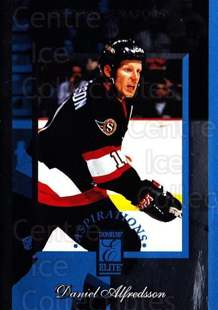 1996-97 Donruss Elite Aspirations #2 Daniel Alfredsson<br/>3 In Stock - $5.00 each - <a href=https://centericecollectibles.foxycart.com/cart?name=1996-97%20Donruss%20Elite%20Aspirations%20%232%20Daniel%20Alfredss...&quantity_max=3&price=$5.00&code=47851 class=foxycart> Buy it now! </a>
