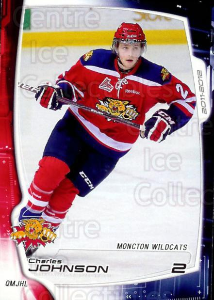 2011-12 Moncton Wildcats #3 Charles Johnson<br/>2 In Stock - $3.00 each - <a href=https://centericecollectibles.foxycart.com/cart?name=2011-12%20Moncton%20Wildcats%20%233%20Charles%20Johnson...&price=$3.00&code=478538 class=foxycart> Buy it now! </a>