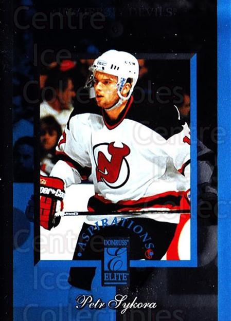 1996-97 Donruss Elite Aspirations #3 Petr Sykora<br/>5 In Stock - $3.00 each - <a href=https://centericecollectibles.foxycart.com/cart?name=1996-97%20Donruss%20Elite%20Aspirations%20%233%20Petr%20Sykora...&quantity_max=5&price=$3.00&code=47858 class=foxycart> Buy it now! </a>