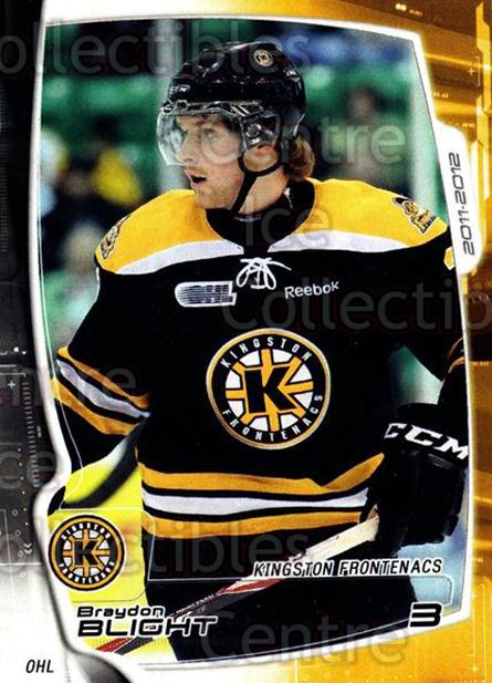 2011-12 Kingston Frontenacs #1 Braydon Blight<br/>1 In Stock - $3.00 each - <a href=https://centericecollectibles.foxycart.com/cart?name=2011-12%20Kingston%20Frontenacs%20%231%20Braydon%20Blight...&price=$3.00&code=478740 class=foxycart> Buy it now! </a>