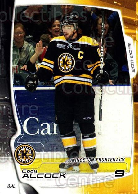 2011-12 Kingston Frontenacs #4 Cody Alcock<br/>2 In Stock - $3.00 each - <a href=https://centericecollectibles.foxycart.com/cart?name=2011-12%20Kingston%20Frontenacs%20%234%20Cody%20Alcock...&price=$3.00&code=478743 class=foxycart> Buy it now! </a>