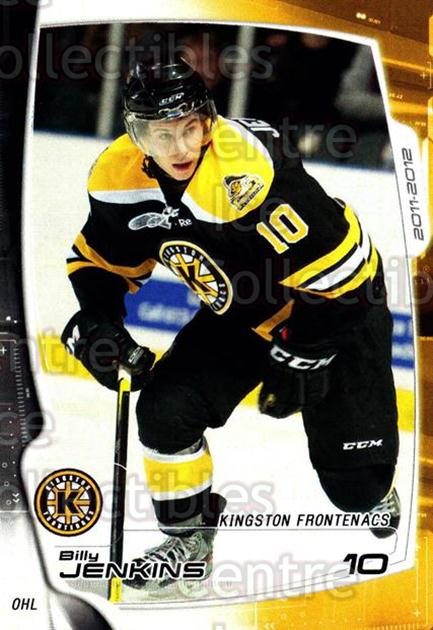 2011-12 Kingston Frontenacs #5 Billy Jenkins<br/>1 In Stock - $3.00 each - <a href=https://centericecollectibles.foxycart.com/cart?name=2011-12%20Kingston%20Frontenacs%20%235%20Billy%20Jenkins...&price=$3.00&code=478744 class=foxycart> Buy it now! </a>