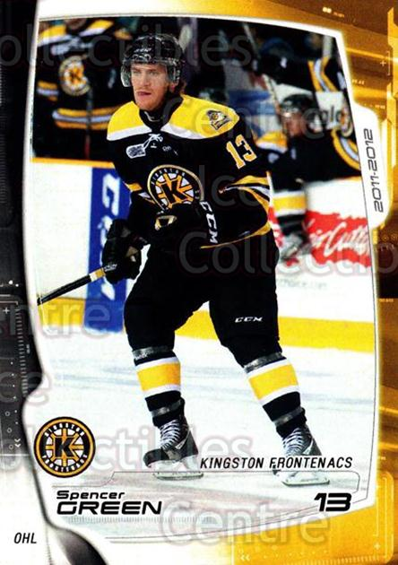 2011-12 Kingston Frontenacs #8 Spencer Green<br/>2 In Stock - $3.00 each - <a href=https://centericecollectibles.foxycart.com/cart?name=2011-12%20Kingston%20Frontenacs%20%238%20Spencer%20Green...&price=$3.00&code=478747 class=foxycart> Buy it now! </a>