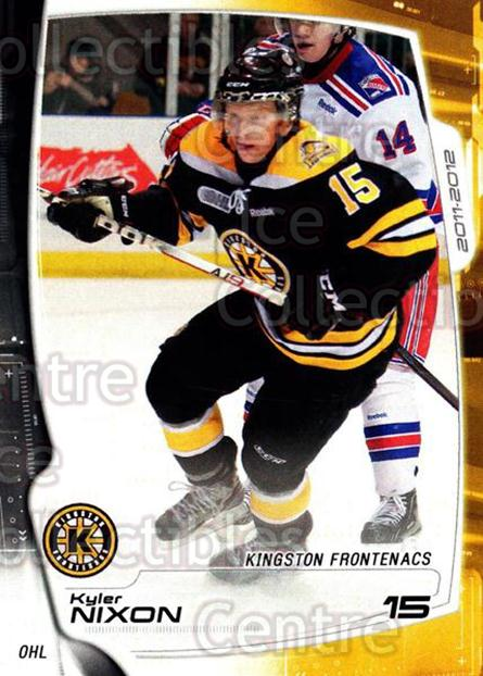 2011-12 Kingston Frontenacs #10 Kyler Nixon<br/>1 In Stock - $3.00 each - <a href=https://centericecollectibles.foxycart.com/cart?name=2011-12%20Kingston%20Frontenacs%20%2310%20Kyler%20Nixon...&price=$3.00&code=478749 class=foxycart> Buy it now! </a>