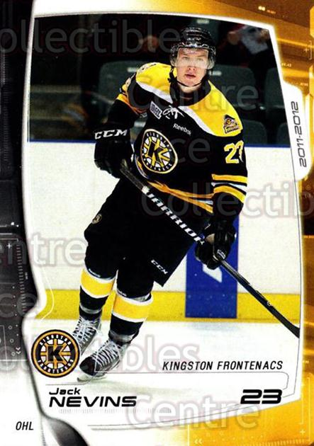 2011-12 Kingston Frontenacs #14 Jack Nevins<br/>1 In Stock - $3.00 each - <a href=https://centericecollectibles.foxycart.com/cart?name=2011-12%20Kingston%20Frontenacs%20%2314%20Jack%20Nevins...&price=$3.00&code=478753 class=foxycart> Buy it now! </a>