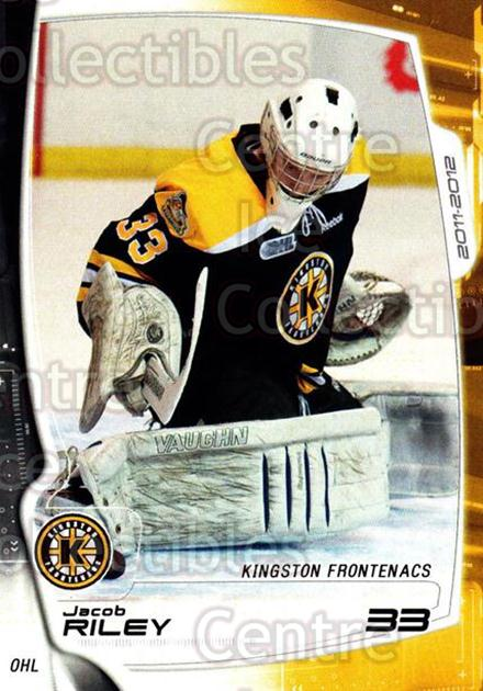 2011-12 Kingston Frontenacs #18 Jacob Riley<br/>2 In Stock - $3.00 each - <a href=https://centericecollectibles.foxycart.com/cart?name=2011-12%20Kingston%20Frontenacs%20%2318%20Jacob%20Riley...&price=$3.00&code=478757 class=foxycart> Buy it now! </a>
