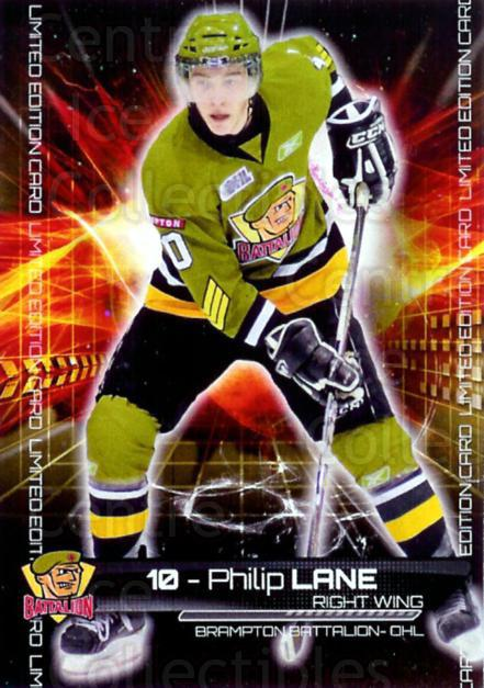 2010-11 Brampton Battalion #LE1 Philip Lane<br/>1 In Stock - $5.00 each - <a href=https://centericecollectibles.foxycart.com/cart?name=2010-11%20Brampton%20Battalion%20%23LE1%20Philip%20Lane...&price=$5.00&code=478938 class=foxycart> Buy it now! </a>