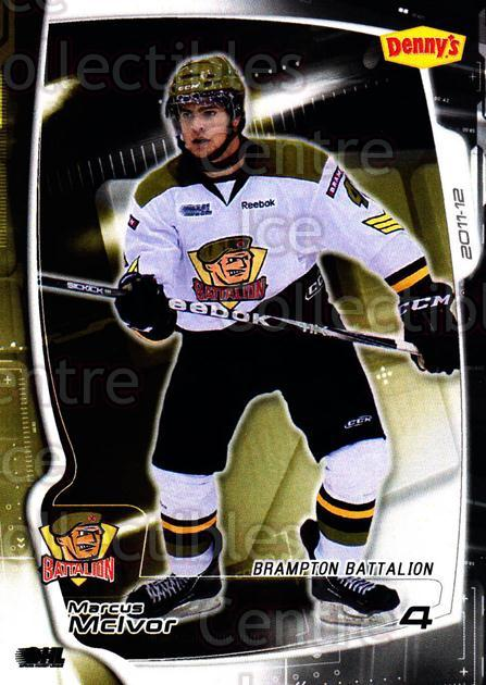 2011-12 Brampton Battalion #3 Marcus McIvor<br/>3 In Stock - $3.00 each - <a href=https://centericecollectibles.foxycart.com/cart?name=2011-12%20Brampton%20Battalion%20%233%20Marcus%20McIvor...&price=$3.00&code=478941 class=foxycart> Buy it now! </a>