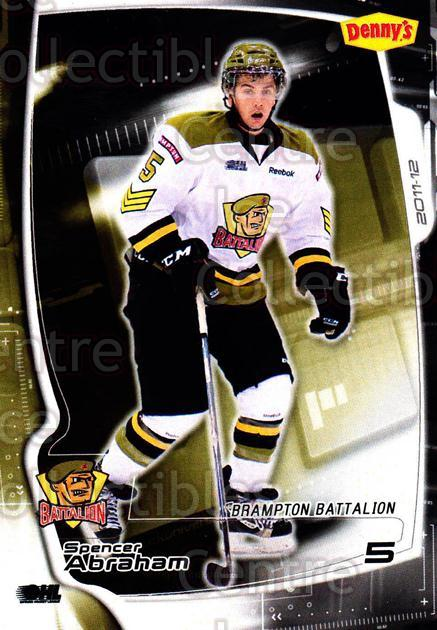 2011-12 Brampton Battalion #4 Spencer Abraham<br/>3 In Stock - $3.00 each - <a href=https://centericecollectibles.foxycart.com/cart?name=2011-12%20Brampton%20Battalion%20%234%20Spencer%20Abraham...&price=$3.00&code=478942 class=foxycart> Buy it now! </a>