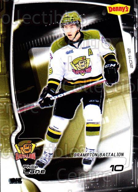 2011-12 Brampton Battalion #9 Philip Lane<br/>2 In Stock - $3.00 each - <a href=https://centericecollectibles.foxycart.com/cart?name=2011-12%20Brampton%20Battalion%20%239%20Philip%20Lane...&price=$3.00&code=478947 class=foxycart> Buy it now! </a>