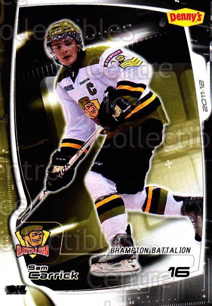 2011-12 Brampton Battalion #13 Sam Carrick<br/>1 In Stock - $3.00 each - <a href=https://centericecollectibles.foxycart.com/cart?name=2011-12%20Brampton%20Battalion%20%2313%20Sam%20Carrick...&price=$3.00&code=478951 class=foxycart> Buy it now! </a>