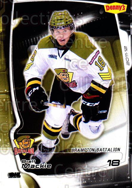 2011-12 Brampton Battalion #14 Brett Mackie<br/>3 In Stock - $3.00 each - <a href=https://centericecollectibles.foxycart.com/cart?name=2011-12%20Brampton%20Battalion%20%2314%20Brett%20Mackie...&price=$3.00&code=478952 class=foxycart> Buy it now! </a>