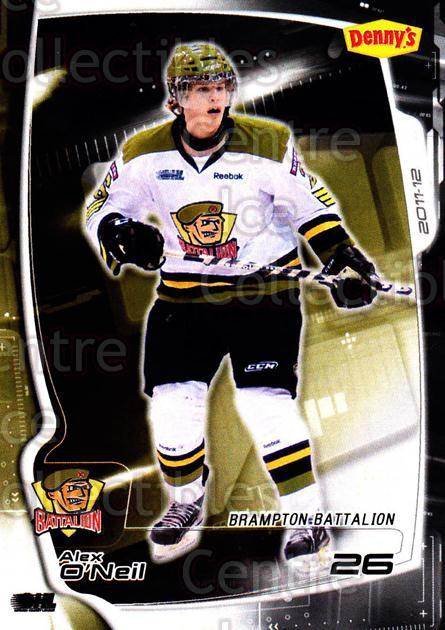 2011-12 Brampton Battalion #21 Alex O'Neil<br/>3 In Stock - $3.00 each - <a href=https://centericecollectibles.foxycart.com/cart?name=2011-12%20Brampton%20Battalion%20%2321%20Alex%20O'Neil...&price=$3.00&code=478959 class=foxycart> Buy it now! </a>