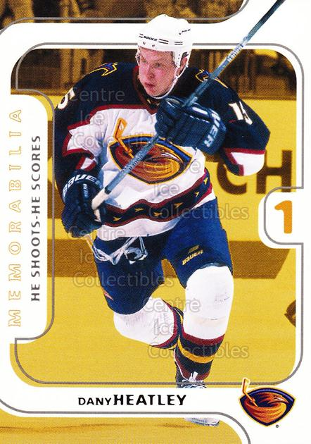 2002-03 BAP Memorabilia Points #8 Dany Heatley<br/>4 In Stock - $2.00 each - <a href=https://centericecollectibles.foxycart.com/cart?name=2002-03%20BAP%20Memorabilia%20Points%20%238%20Dany%20Heatley...&quantity_max=4&price=$2.00&code=478997 class=foxycart> Buy it now! </a>