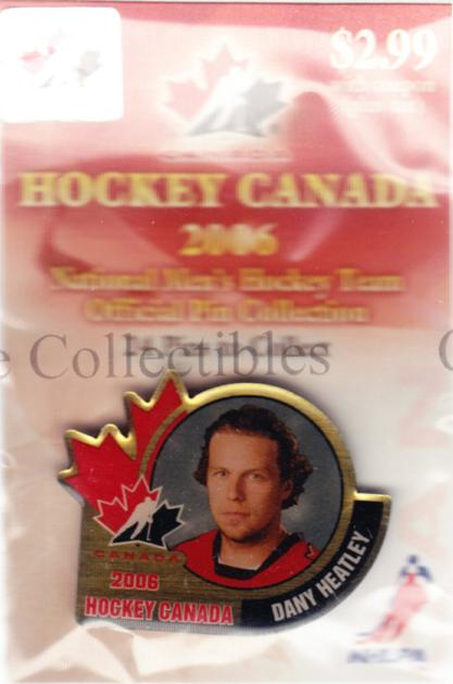 2006 Team Canada Hockey Pin #8 Dany Heatley<br/>4 In Stock - $5.00 each - <a href=https://centericecollectibles.foxycart.com/cart?name=2006%20Team%20Canada%20Hockey%20Pin%20%238%20Dany%20Heatley...&quantity_max=4&price=$5.00&code=479017 class=foxycart> Buy it now! </a>