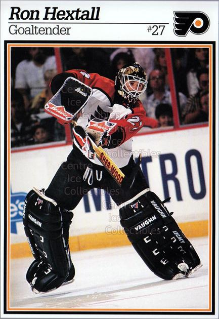 1995-96 Philadelphia Flyers Postcards #9 Ron Hextall<br/>1 In Stock - $5.00 each - <a href=https://centericecollectibles.foxycart.com/cart?name=1995-96%20Philadelphia%20Flyers%20Postcards%20%239%20Ron%20Hextall...&quantity_max=1&price=$5.00&code=479120 class=foxycart> Buy it now! </a>