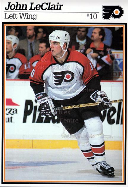1995-96 Philadelphia Flyers Postcards #12 John LeClair<br/>4 In Stock - $3.00 each - <a href=https://centericecollectibles.foxycart.com/cart?name=1995-96%20Philadelphia%20Flyers%20Postcards%20%2312%20John%20LeClair...&quantity_max=4&price=$3.00&code=479123 class=foxycart> Buy it now! </a>