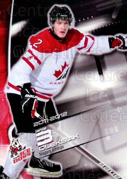 2011-12 Niagara IceDogs #LE1 Jamie Oleksiak<br/>1 In Stock - $5.00 each - <a href=https://centericecollectibles.foxycart.com/cart?name=2011-12%20Niagara%20IceDogs%20%23LE1%20Jamie%20Oleksiak...&quantity_max=1&price=$5.00&code=479300 class=foxycart> Buy it now! </a>
