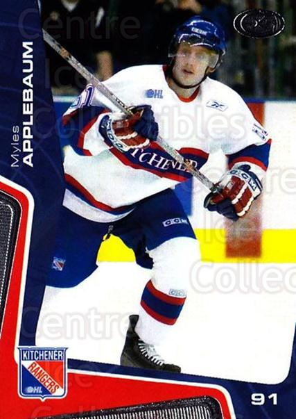 2005-06 Kitchener Rangers #23 Myles Applebaum<br/>2 In Stock - $3.00 each - <a href=https://centericecollectibles.foxycart.com/cart?name=2005-06%20Kitchener%20Rangers%20%2323%20Myles%20Applebaum...&quantity_max=2&price=$3.00&code=479377 class=foxycart> Buy it now! </a>