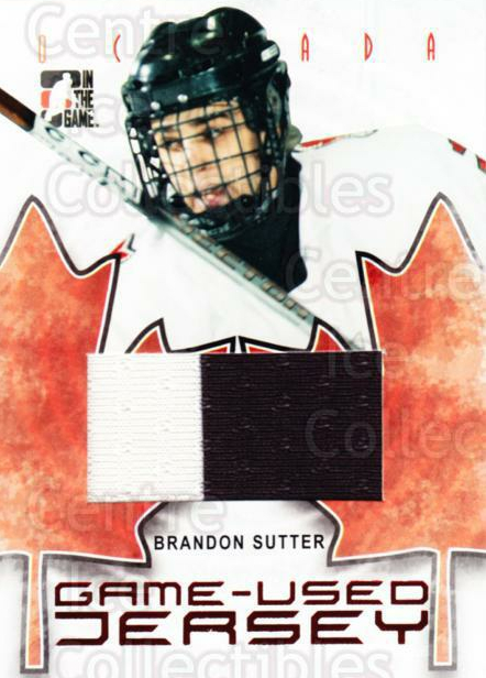 2007-08 ITG O Canada Jersey #4 Brandon Sutter<br/>1 In Stock - $5.00 each - <a href=https://centericecollectibles.foxycart.com/cart?name=2007-08%20ITG%20O%20Canada%20Jersey%20%234%20Brandon%20Sutter...&price=$5.00&code=479594 class=foxycart> Buy it now! </a>