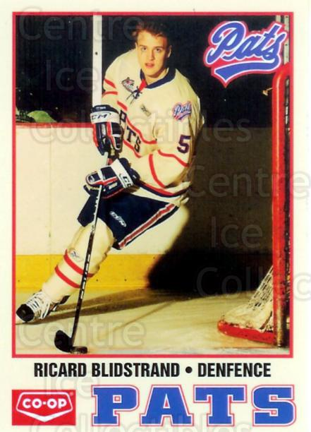 2010-11 Regina Pats #3 Ricard Blidstrand<br/>3 In Stock - $3.00 each - <a href=https://centericecollectibles.foxycart.com/cart?name=2010-11%20Regina%20Pats%20%233%20Ricard%20Blidstra...&quantity_max=3&price=$3.00&code=479789 class=foxycart> Buy it now! </a>