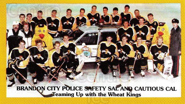 1989-90 Brandon Wheat Kings #24 Team Photo, Brandon Wheat Kings<br/>1 In Stock - $2.00 each - <a href=https://centericecollectibles.foxycart.com/cart?name=1989-90%20Brandon%20Wheat%20Kings%20%2324%20Team%20Photo,%20Bra...&price=$2.00&code=479904 class=foxycart> Buy it now! </a>