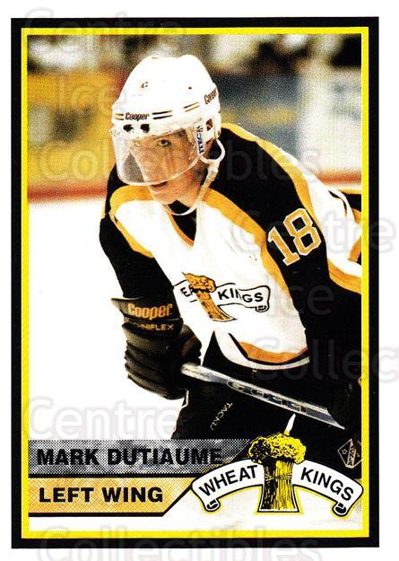 1994-95 Brandon Wheat Kings #3 Mark Dutiaume<br/>1 In Stock - $3.00 each - <a href=https://centericecollectibles.foxycart.com/cart?name=1994-95%20Brandon%20Wheat%20Kings%20%233%20Mark%20Dutiaume...&quantity_max=1&price=$3.00&code=479906 class=foxycart> Buy it now! </a>