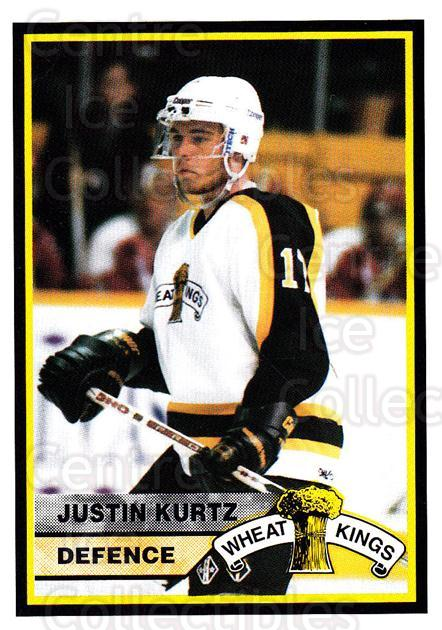 1994-95 Brandon Wheat Kings #7 Justin Kurtz<br/>1 In Stock - $3.00 each - <a href=https://centericecollectibles.foxycart.com/cart?name=1994-95%20Brandon%20Wheat%20Kings%20%237%20Justin%20Kurtz...&quantity_max=1&price=$3.00&code=479908 class=foxycart> Buy it now! </a>