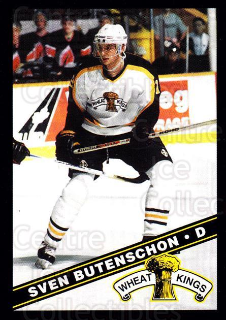 1995-96 Brandon Wheat Kings #15 Sven Butenschon<br/>2 In Stock - $3.00 each - <a href=https://centericecollectibles.foxycart.com/cart?name=1995-96%20Brandon%20Wheat%20Kings%20%2315%20Sven%20Butenschon...&quantity_max=2&price=$3.00&code=479911 class=foxycart> Buy it now! </a>