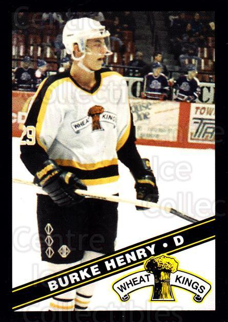 1995-96 Brandon Wheat Kings #23 Burke Henry<br/>1 In Stock - $3.00 each - <a href=https://centericecollectibles.foxycart.com/cart?name=1995-96%20Brandon%20Wheat%20Kings%20%2323%20Burke%20Henry...&quantity_max=1&price=$3.00&code=479913 class=foxycart> Buy it now! </a>