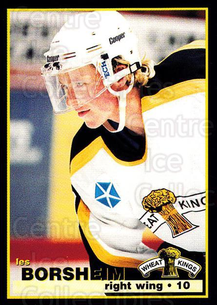 1996-97 Brandon Wheat Kings #3 Les Borsheim<br/>1 In Stock - $3.00 each - <a href=https://centericecollectibles.foxycart.com/cart?name=1996-97%20Brandon%20Wheat%20Kings%20%233%20Les%20Borsheim...&quantity_max=1&price=$3.00&code=479914 class=foxycart> Buy it now! </a>