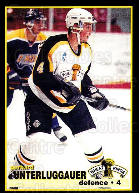 1996-97 Brandon Wheat Kings #21 Gerhard Unterluggauer<br/>3 In Stock - $3.00 each - <a href=https://centericecollectibles.foxycart.com/cart?name=1996-97%20Brandon%20Wheat%20Kings%20%2321%20Gerhard%20Unterlu...&quantity_max=3&price=$3.00&code=479918 class=foxycart> Buy it now! </a>