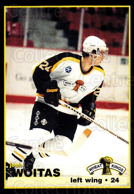 1996-97 Brandon Wheat Kings #20 Josh Woitas<br/>2 In Stock - $3.00 each - <a href=https://centericecollectibles.foxycart.com/cart?name=1996-97%20Brandon%20Wheat%20Kings%20%2320%20Josh%20Woitas...&quantity_max=2&price=$3.00&code=479919 class=foxycart> Buy it now! </a>