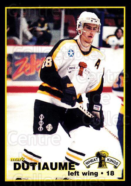 1996-97 Brandon Wheat Kings #19 Mark Dutiaume<br/>2 In Stock - $3.00 each - <a href=https://centericecollectibles.foxycart.com/cart?name=1996-97%20Brandon%20Wheat%20Kings%20%2319%20Mark%20Dutiaume...&quantity_max=2&price=$3.00&code=479920 class=foxycart> Buy it now! </a>