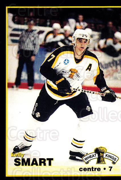 1996-97 Brandon Wheat Kings #12 Kelly Smart<br/>2 In Stock - $3.00 each - <a href=https://centericecollectibles.foxycart.com/cart?name=1996-97%20Brandon%20Wheat%20Kings%20%2312%20Kelly%20Smart...&quantity_max=2&price=$3.00&code=479927 class=foxycart> Buy it now! </a>