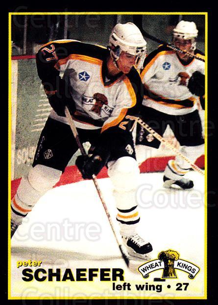 1996-97 Brandon Wheat Kings #11 Peter Schaefer<br/>1 In Stock - $3.00 each - <a href=https://centericecollectibles.foxycart.com/cart?name=1996-97%20Brandon%20Wheat%20Kings%20%2311%20Peter%20Schaefer...&quantity_max=1&price=$3.00&code=479928 class=foxycart> Buy it now! </a>