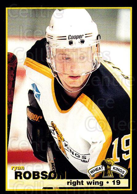1996-97 Brandon Wheat Kings #10 Ryan Robson<br/>3 In Stock - $3.00 each - <a href=https://centericecollectibles.foxycart.com/cart?name=1996-97%20Brandon%20Wheat%20Kings%20%2310%20Ryan%20Robson...&quantity_max=3&price=$3.00&code=479929 class=foxycart> Buy it now! </a>
