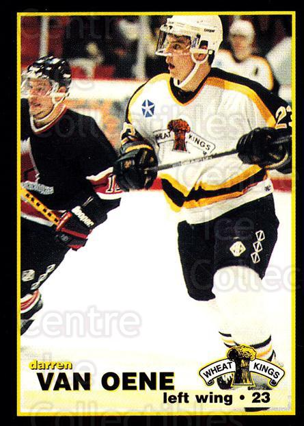 1996-97 Brandon Wheat Kings #7 Darren Van Oene<br/>3 In Stock - $3.00 each - <a href=https://centericecollectibles.foxycart.com/cart?name=1996-97%20Brandon%20Wheat%20Kings%20%237%20Darren%20Van%20Oene...&quantity_max=3&price=$3.00&code=479932 class=foxycart> Buy it now! </a>