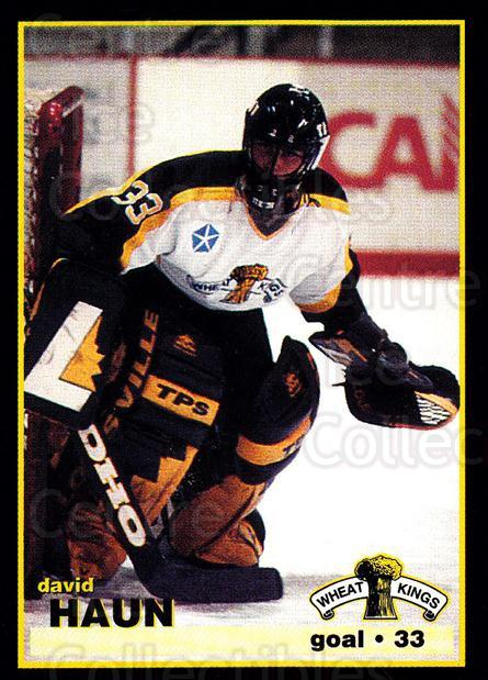 1996-97 Brandon Wheat Kings #2 David Haun<br/>2 In Stock - $3.00 each - <a href=https://centericecollectibles.foxycart.com/cart?name=1996-97%20Brandon%20Wheat%20Kings%20%232%20David%20Haun...&quantity_max=2&price=$3.00&code=479936 class=foxycart> Buy it now! </a>