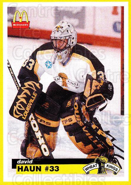 1997-98 Brandon Wheat Kings #8 David Haun<br/>2 In Stock - $3.00 each - <a href=https://centericecollectibles.foxycart.com/cart?name=1997-98%20Brandon%20Wheat%20Kings%20%238%20David%20Haun...&quantity_max=2&price=$3.00&code=479945 class=foxycart> Buy it now! </a>