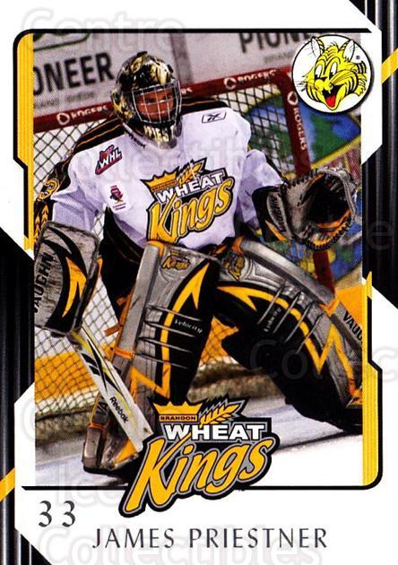 2008-09 Brandon Wheat Kings #19 James Priestner<br/>2 In Stock - $3.00 each - <a href=https://centericecollectibles.foxycart.com/cart?name=2008-09%20Brandon%20Wheat%20Kings%20%2319%20James%20Priestner...&quantity_max=2&price=$3.00&code=480196 class=foxycart> Buy it now! </a>