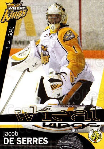 2009-10 Brandon Wheat Kings #4 Jacob De Serres<br/>1 In Stock - $3.00 each - <a href=https://centericecollectibles.foxycart.com/cart?name=2009-10%20Brandon%20Wheat%20Kings%20%234%20Jacob%20De%20Serres...&quantity_max=1&price=$3.00&code=480205 class=foxycart> Buy it now! </a>