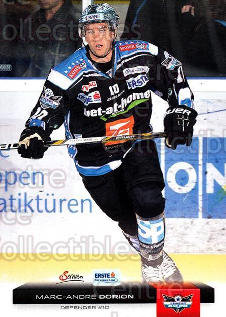 2012-13 Erste Bank Eishockey Liga EBEL #9 Marc-Andre Dorion<br/>6 In Stock - $2.00 each - <a href=https://centericecollectibles.foxycart.com/cart?name=2012-13%20Erste%20Bank%20Eishockey%20Liga%20EBEL%20%239%20Marc-Andre%20Dori...&quantity_max=6&price=$2.00&code=480282 class=foxycart> Buy it now! </a>
