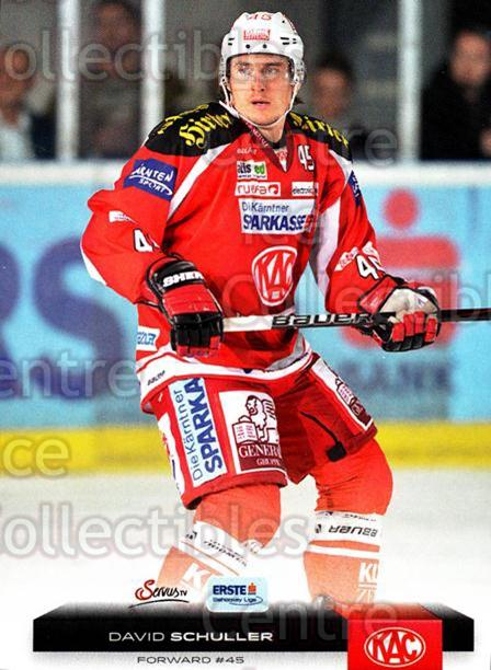 2012-13 Erste Bank Eishockey Liga EBEL #50 David Schuller<br/>6 In Stock - $2.00 each - <a href=https://centericecollectibles.foxycart.com/cart?name=2012-13%20Erste%20Bank%20Eishockey%20Liga%20EBEL%20%2350%20David%20Schuller...&quantity_max=6&price=$2.00&code=480323 class=foxycart> Buy it now! </a>